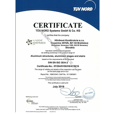 TUV Nord Certification